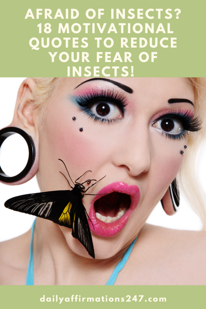 Afraid of Insects? 18 Motivational Quotes To Reduce Your Fear of Insects! (CALM AFFIRMATIONS)